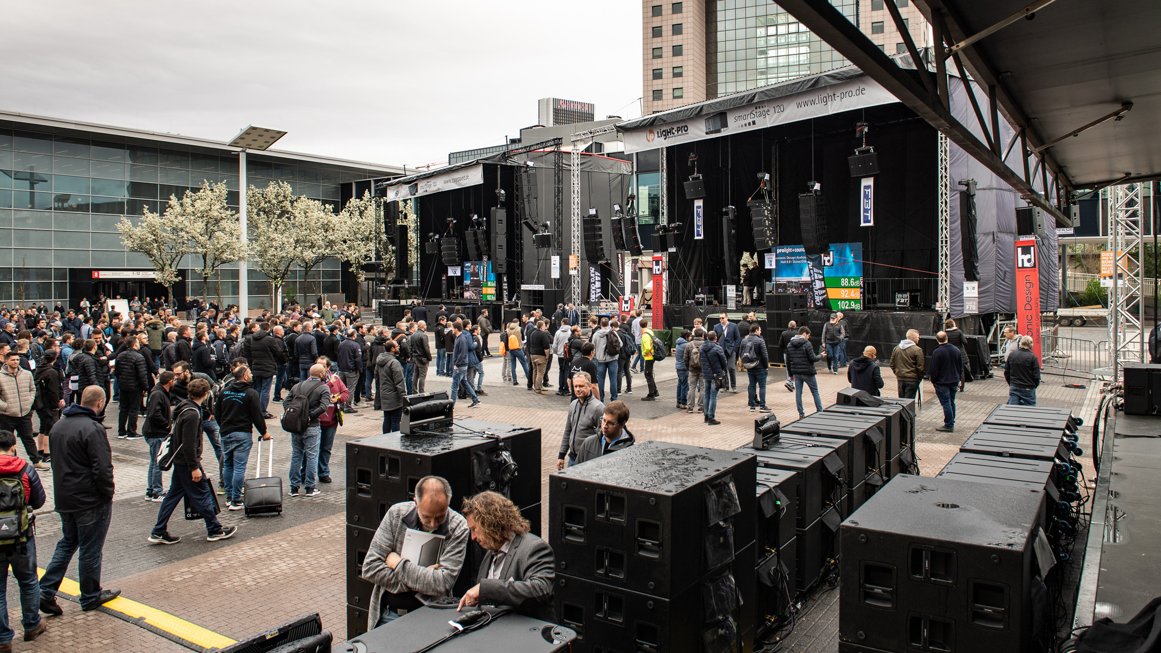 Live Sound Arena at the exhibition grounds of Messe Frankfurt | Prolight + Sound