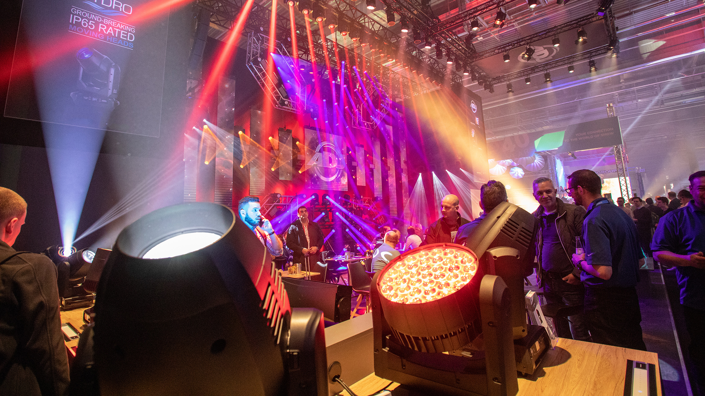 Show lighting at Prolight + Sound