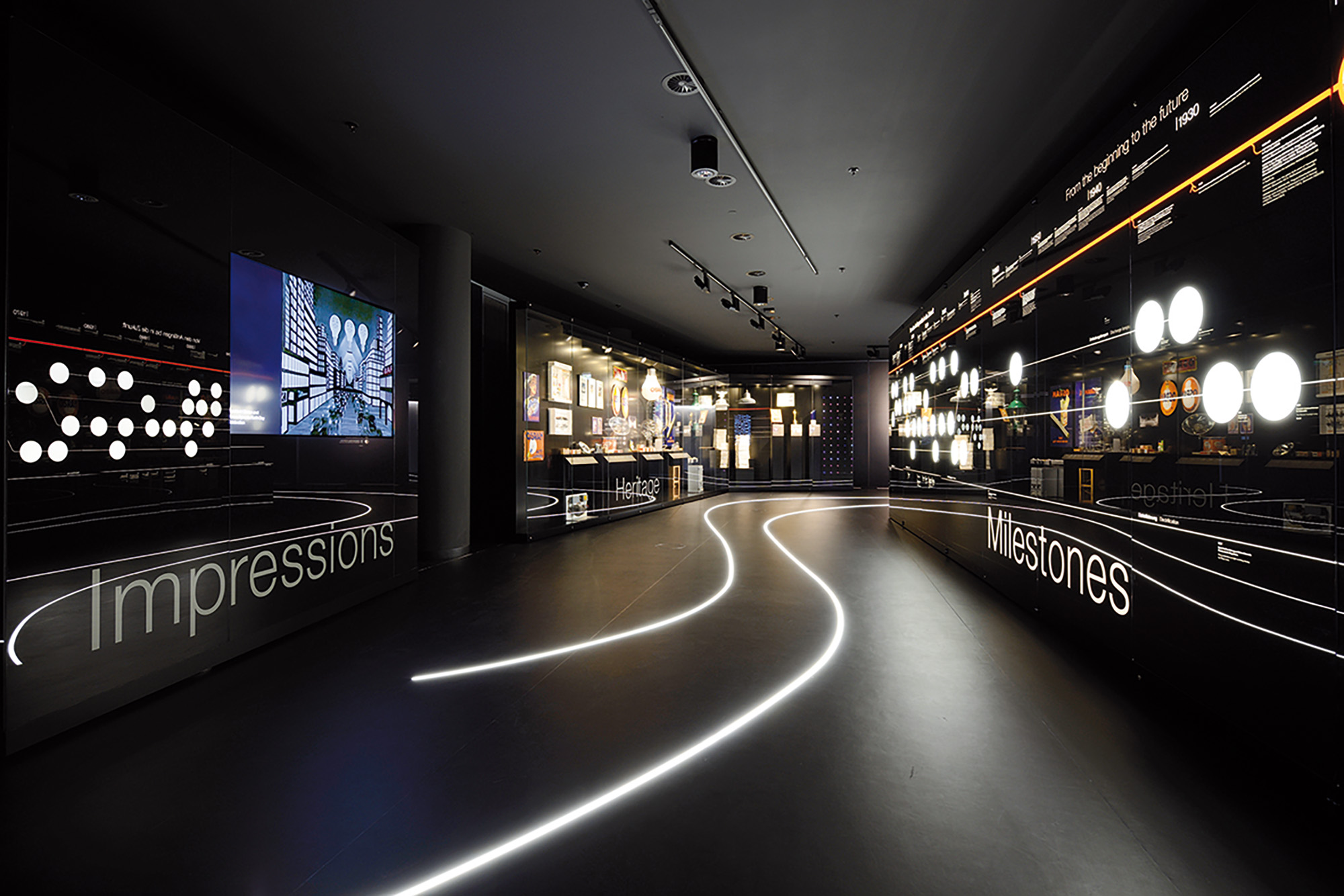 Numerous audio-visual exhibits accompany visitors on their journey through the company's history ngeschichte